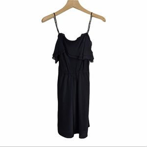 Aritzia Wilfred Silk Ruffle Layer Mini Dress